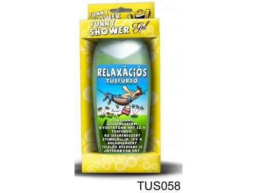 (TUS058) Tusfürdő 300 ml - Relaxációs tusfürdő - Vicces Ajándékok