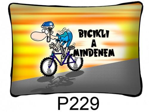 (P229) Párna 37 cm x 27 cm - Bicikli a mindenem - Biciklis Ajándékok