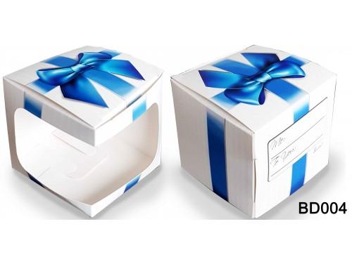 (BD004) Bögre doboz - Kék Masnis Doboz – Díszdoboz