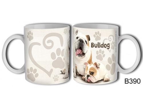 (B390) Bögre 3 dl - Bulldog – Kutyásoknak ajándék