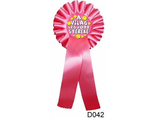 (D042) Díjszalag 11,3 cm x 26 cm - A világ legjobb gyereke – Ajándék gyerekeknek