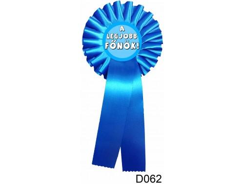 (D062) Díjszalag 11,3 cm x 26 cm - A legjobb főnök - Ajándék Főnöknek