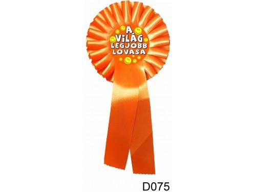 (D075) Díjszalag 11,3 cm x 26 cm - A világ legjobb lovasa – Lovas ajándékok