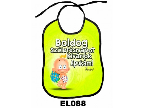 (EL088) Előke 26 cm x 32,5 cm - Boldog Szülinapot Apukám – Ajándék kisbabáknak