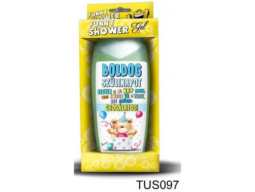 (TUS097) Tusfürdő 300 ml - Csodálatos Boldog Szülinapot Kék – Szülinapi ajándékok