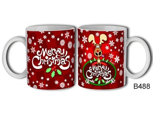 (B488) Bögre 3 dl - Merry Christmas Szarvas – Karácsonyi ajándék