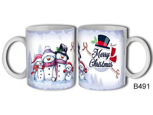 (B491) Bögre 3 dl - Hóemberke család – Karácsonyi ajándék