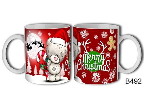 (B492) Bögre 3 dl - Merry Christmas Maci – Karácsonyi ajándék