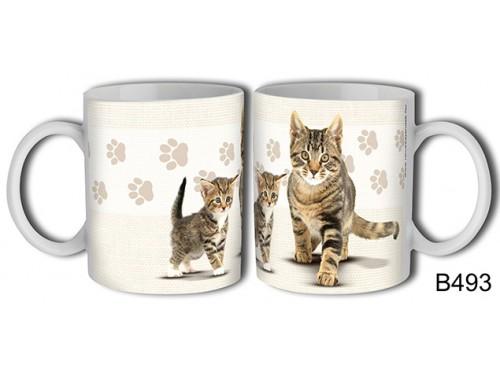 (B493) Bögre 3 dl - Fekete csíkos macska – Macskás Ajándékok