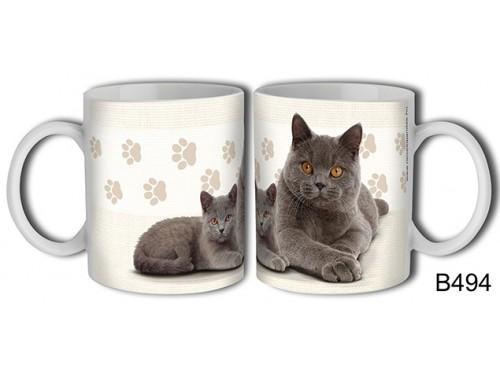 (B494) Bögre 3 dl - Brit rövidszörű macska – Macskás Ajándékok