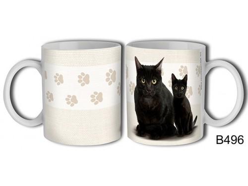 (B496) Bögre 3 dl - Fekete macska – Macskás Ajándékok