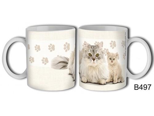 (B497) Bögre 3 dl - Perzsa macska – Macskás Ajándékok
