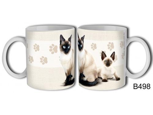 (B498) Bögre 3 dl - Sziámi macska – Macskás Ajándékok