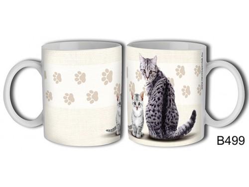 (B499) Bögre 3 dl - Szürke cica – Macskás Ajándékok