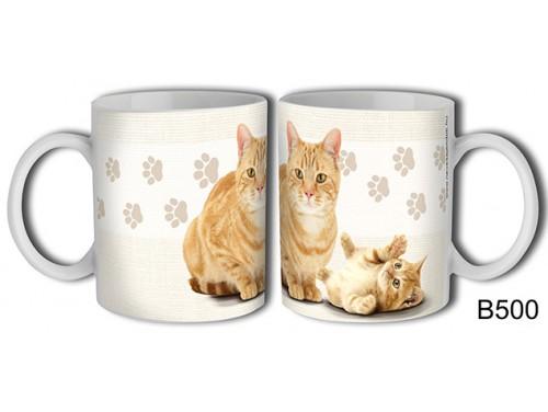 (B500) Bögre 3 dl - Vörös cica – Macskás Ajándékok