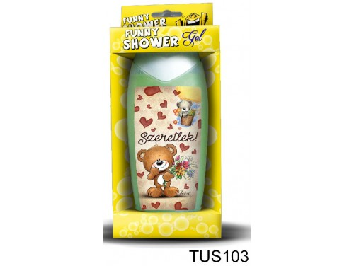 (TUS103) Tusfürdő 300 ml - Nagyon szeretlek barna maci – Szerelmes Ajándékok