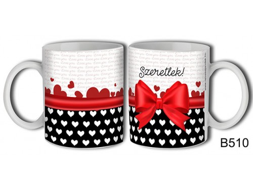 (B510) Bögre 3 dl - Masnis szeretlek – Szerelemes bögre – Szerelmes pároknak ajándék