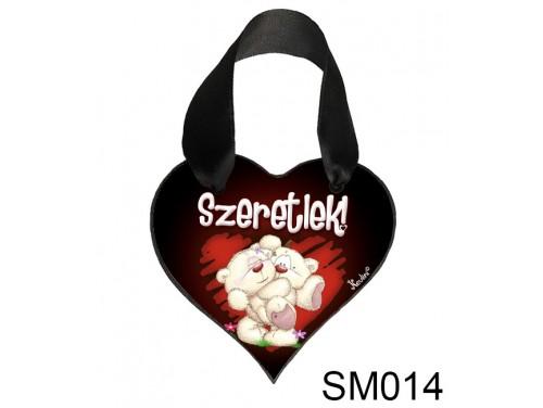 (SM014) Szív Akasztóval 9 cm x 9,5 cm - Pimik ölben – Szerelmes Ajándékok - Valentin napi ajándékok
