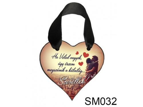(SM032) Szív Akasztóval 9 cm x 9,5 cm - Ha Veled vagyok – Szerelmes Ajándékok - Valentin napi ajándékok