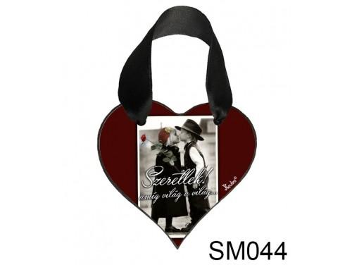 (SM044) Szív Akasztóval 9 cm x 9,5 cm - Szeretlek amíg világ – Szerelmes Ajándékok - Valentin napi ajándékok