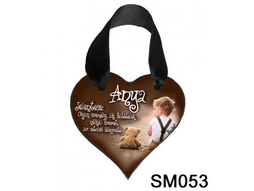 (SM053) Szív akasztóval 9 cm x 9,5 cm - Anya jelentése – Ajándék Anyukáknak – Anyák napi ajándék