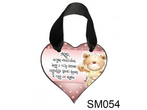 (SM054) Szív akasztóval 9 cm x 9,5 cm - Anya milyen csodálatos – Ajándék Anyukáknak – Anyák napi ajándék