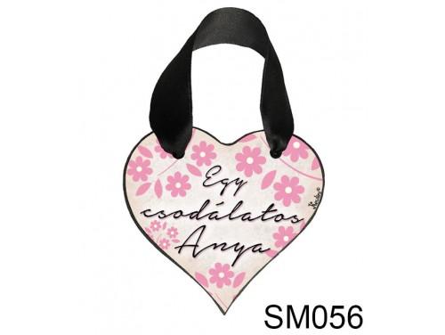 (SM056) Szív akasztóval 9 cm x 9,5 cm - Egy csodálatos anya – Ajándék Anyukáknak – Anyák napi ajándék