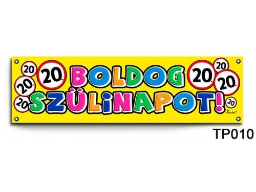 (TP010) Boldog 20. Szülinapot körös – Szülinapi banner – Szülinapi kellékek