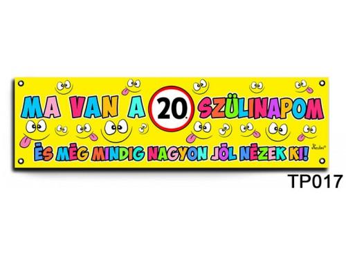 (TP017) Boldog 20. Szülinapot – Szülinapi banner – Szülinapi kellékek
