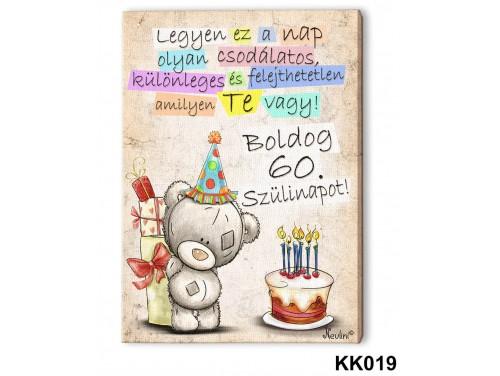 (KK019) Falikép 20 cm x 15 cm - Boldog 60. Születésnapot – 60. Szülinapi ajándék ötletek