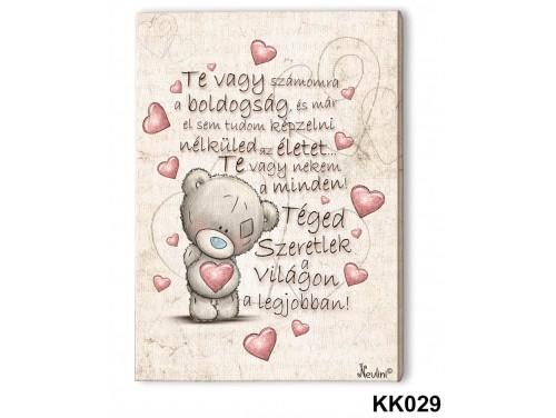 (KK029) Falikép 20 cm x 15 cm - Te vagy számomra – Szerelmes Ajándékok