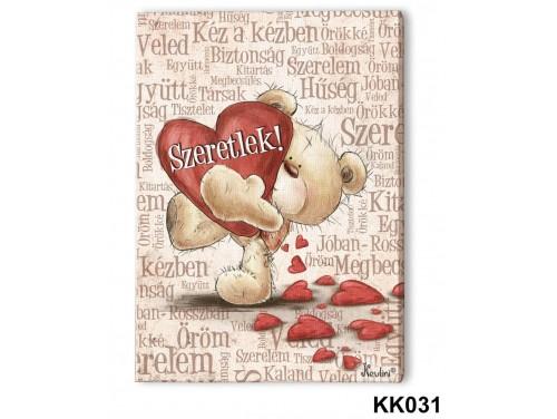 (KK031) Falikép 20 cm x 15 cm - Szeretlek szavakkal – Szerelmes Ajándékok
