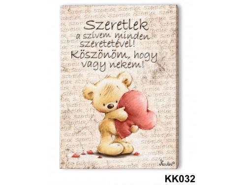 (KK032) Falikép 20 cm x 15 cm - Szeretlek a szivem – Szerelmes Ajándékok