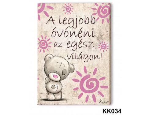 (KK034) Falikép 20 cm x 15 cm - A legjobb óvónéni – Ajándék Óvónéniknek