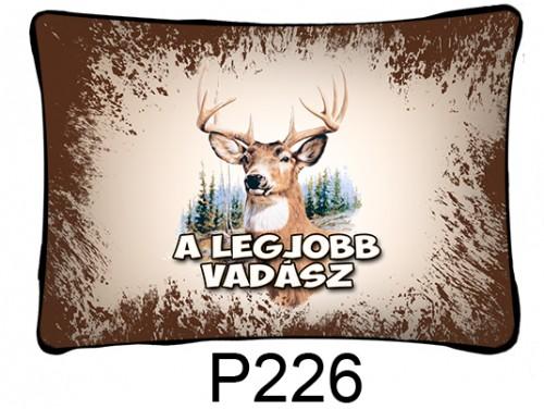 (P226) Párna 37 cm x 27 cm - A legjobb vadász – Ajándék Vadászoknak