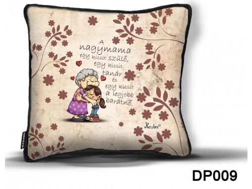 (DP009) Díszpárna 26 cm x 26 cm - A nagymama – Ajándék Nagymamáknak