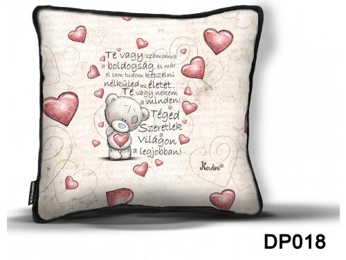 (DP018) Díszpárna 26 cm x 26 cm - Te vagy számomra – Szerelmes ajándék