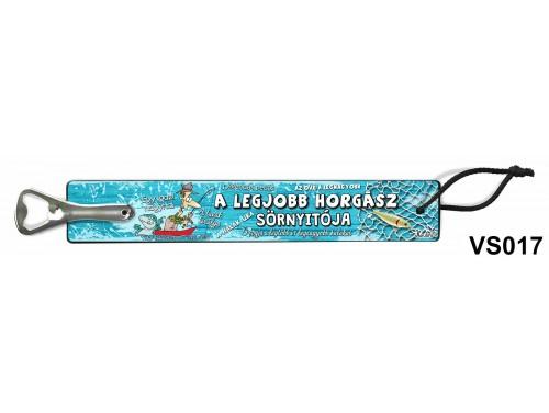 (VS017) Vicces sörnyitó - A legjobb horgász – Ajándék Horgászoknak