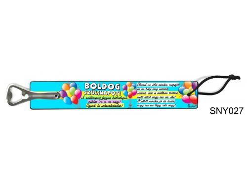 (VS027) Vicces sörnyitó – Boldog szülinapot – Vicces szülinapi ajándék