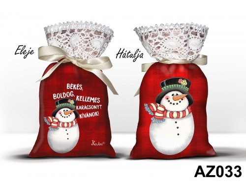 (AZ033) Álomzsák - Békés hóember – Karácsonyi ajándék