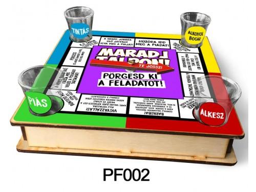 (PF002) Ivós társasjáték 18 cm x 18 cm - Maradj Talpon – Vicces Ajándékok