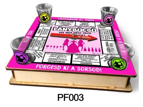(PF003) Ivós társasjáték 18 cm x 18 cm - Lánybúcsú Társasjáték – Lánybúcsús Ajándékok