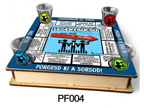 (PF004) Ivós társasjáték 18 cm x 18 cm - Legénybúcsú Társasjáték – Legénybúcsús Ajándékok