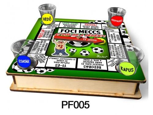 (PF005) Ivós társasjáték 18 cm x 18 cm - Foci Meccs Társasjáték – Focis Ajándékok