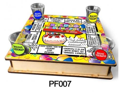 (PF007) Ivós társasjáték 18 cm x 18 cm - Szülinapi Társasjáték – Szülinapi Ajándékok