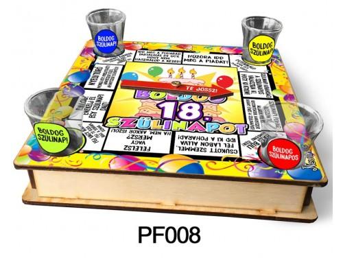 (PF008) Ivós társasjáték 18 cm x 18 cm - 18. Szülinapi Társasjáték – 18. Szülinapi Ajándékok
