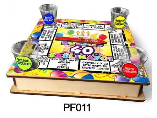 (PF011) Ivós társasjáték 18 cm x 18 cm - 40. Szülinapi Társasjáték – 40. Szülinapi Ajándékok