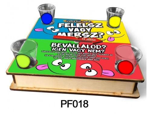 (PF018) Ivós társasjáték 18 cm x 18 cm - Felelsz vagy mersz? – Vicces Ajándékok