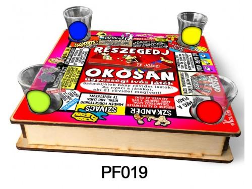 (PF019) Ivós társasjáték 18 cm x 18 cm - Részegedj Okosan – Vicces Ajándékok