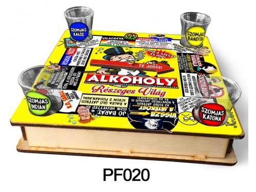 (PF020) Ivós társasjáték 18 cm x 18 cm - ALKOHOLY – Vicces Ajándékok